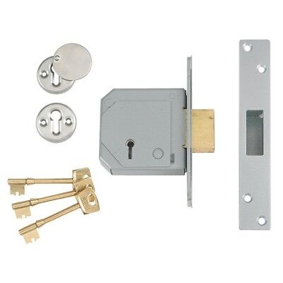 UNION V-3G114E-PL-80 5 Lever Mortice Deadlock C-Series 80mm 3in Satin Brass