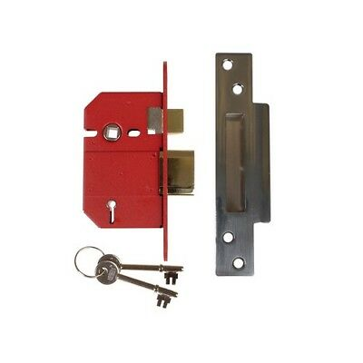 UNION Y2200S-SC-2.5 StrongBOLT BS 5 Lever Mortice Sashlock Satin Chrome 68mm