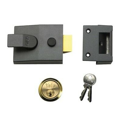 Yale Locks 630089005702 P89 Deadlock Nightlatch 60mm Backset DMG Finish Visi