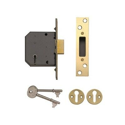 Yale Locks 650552205025 PM552 5 Lever Mortice Deadlock 80mm 3in Polished Brass