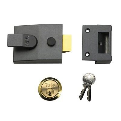 Yale Locks 630088005702 P88 Standard Nightlatch 60mm Backset DMG Finish Visi