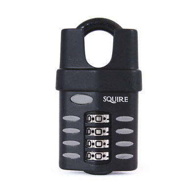 Squire CP50CS 50mm Closed Shackle Combination Padlock 4 Wheel Recodable