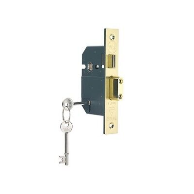 Yale Locks 655600105025 PM560 Hi-Sec BS 5L Mortice Sashlock Pol Brass 68mm 2.5in