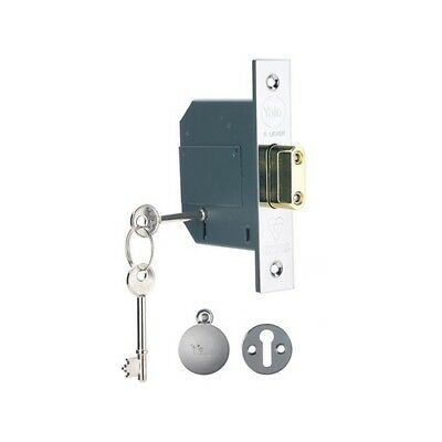 Yale Locks 655620105162 PM562 Hi-Sec BS 5L Mortice Deadlock 68mm 2.5in Pol Chrom