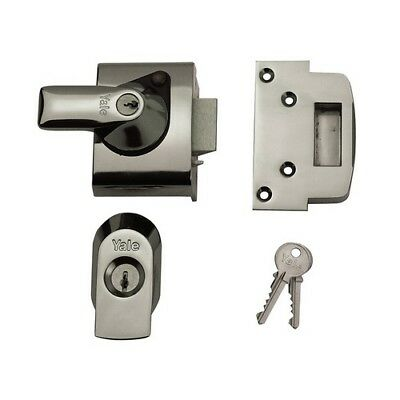 Yale Locks 630020005162 BS2 Nightlatch British Standard Lock 40mm Backset Chrome