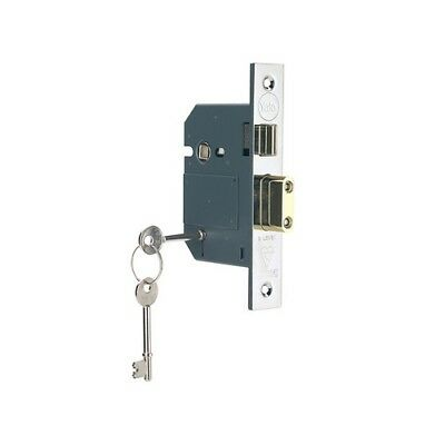 Yale Locks 655600105162 PM560 Hi-Sec BS 5L Mortice Sashlock Pol Chrome 68mm 2.5