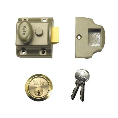 Yale Locks 630723101322 723 Deadlatch 40mm Backset ENB Finish Box