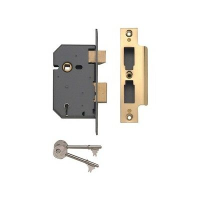 Yale Locks 650550205025 PM550 5 Lever Mortice Sashlock Pol Brass 80mm 3in