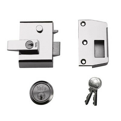 Yale P-2-DMG-PB-40 High Security Nightlatch 40mm Brass Cyl Grey Case