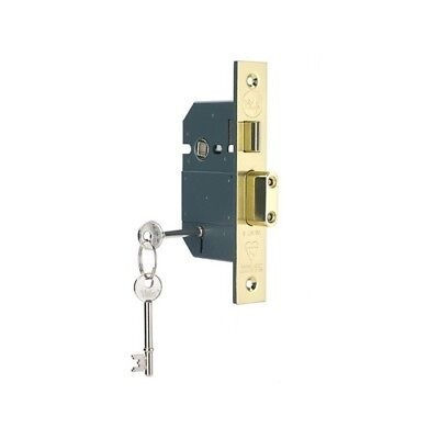 Yale Locks 655600205025 PM560 Hi-Sec BS 5L Mortice Sashlock Pol Brass 81mm 3in