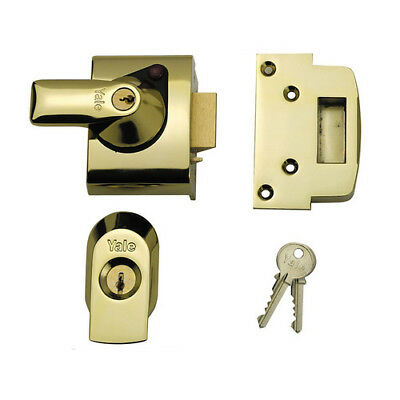 Yale P-BS2-BLX-PB-60 Maximum Security Nightlatch 40mm Brass Cyl Brasslux Case