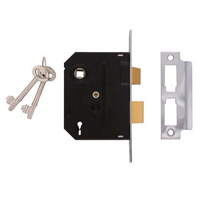 Union Y-2295-CH-2.50 2 Lever Mortice Sashlock Chrome Finish 63mm 2.5in