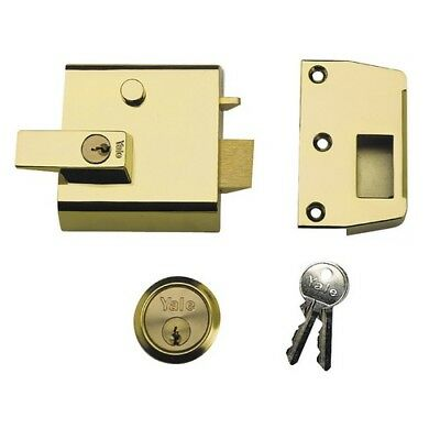 Yale Locks 630001215542 P1 Double Security Nightlatch 60mm Backset Brasslux