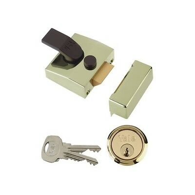 Yale Locks 630085001542 85 Deadlocking Nightlatch 40mm Backset Brasslux