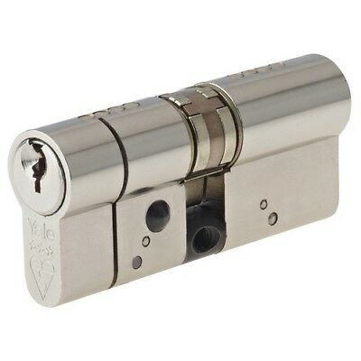 Yale Locks P-ASP5045BN Anti-Snap Platinum Euro Cylinder 50/45 Bright Nickel