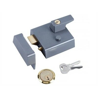 Yale P-1-DMG-PB-60 High Security Nightlatch 60mm Brass Cyl Grey Case