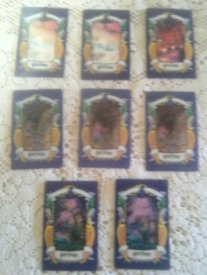 "HARRY POTTER ""Chocolate Frog Lenticular""  TRADING CARDS  - 8 cards (used)"