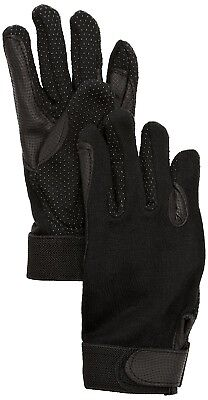 (9/XL, Black) - SSG Fleece Lined Winter Gripper Riding Gloves. Shipping is Free