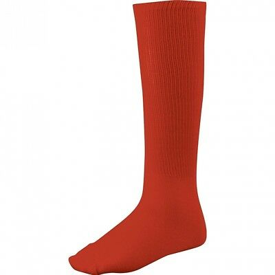 (Medium, Scarlet) - Twin City Adult All-Sport Solid Colour Tube Socks