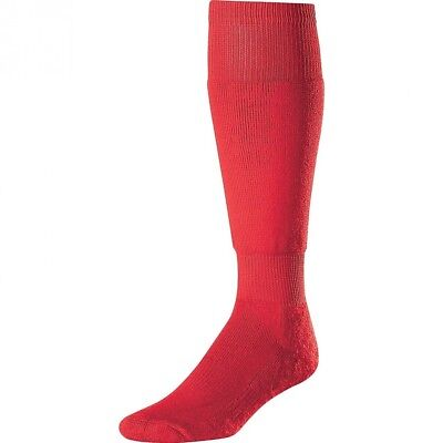(Large, Scarlet) - Twin City Large Ultimate Baseball Socks. Twin-City