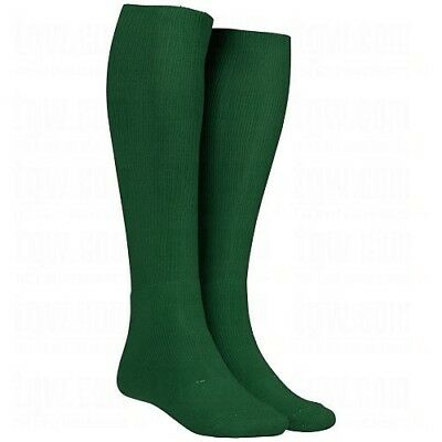 (Large, Dark Green) - Twin City Adult All-Sport Solid Colour Tube Socks