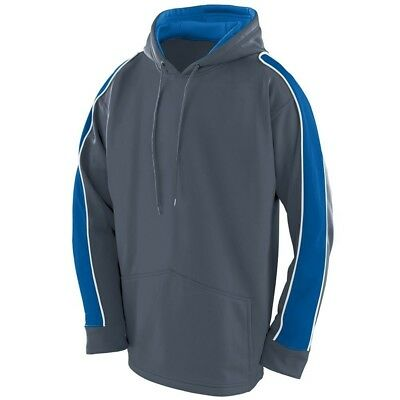 (Large, Graphite/Royal/White) - Augusta Sportswear BOYS' ZEST HOODIE