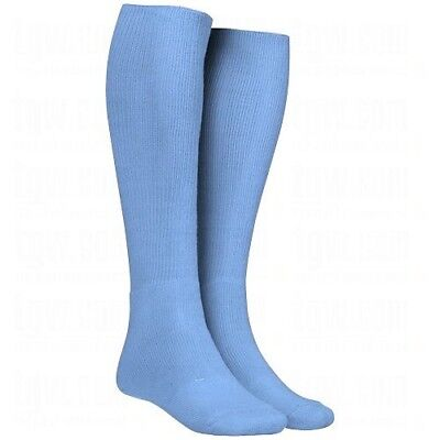 (X-Small, Blue) - Twin City Adult All-Sport Solid Colour Tube Socks. Best Price