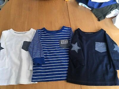 Baby Boys Next Long Sleeve Tops 6-9 Months