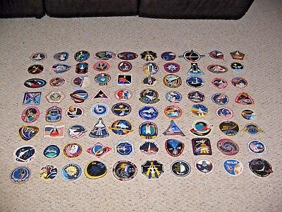 (50) Different NASA SPACE SHUTTLE Mission Crew Astronaut Stickers Dealers Lot