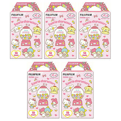 5 Packs 50 Photos Sanrio Characters FujiFilm Fuji Instax Mini Film Polaroid SP-2