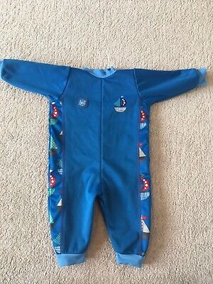 Splash About Baby Warm In One set sail Wetsuit Large 6-12 months