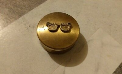 antique brass tablet/pill case from japan