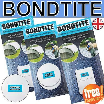 Bondtite Waterproof Self Adhesive Tapes Patches Repair Rips Holes Tear Boot tent
