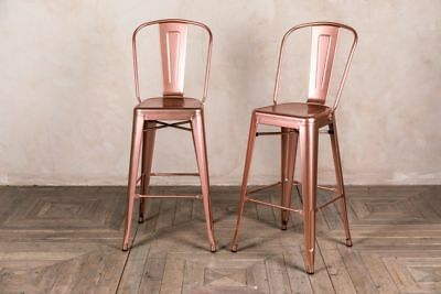 rose gold bar stools. Bright Copper Tolix Style Bar Stool Rose Gold Breakfast Two Heights Stools