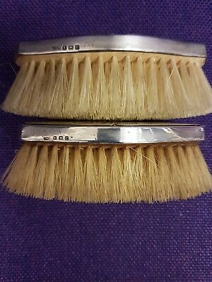 ANTIQUE HALLMARKED SILVER 2Brush set