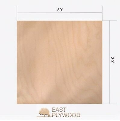 """Baltic Birch Plywood - 1/2"""" thick, 30"""" x 30"""" 1 pieces"""