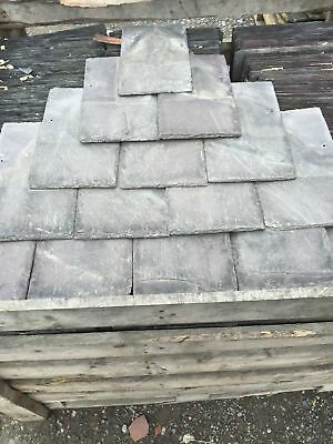 """VAT Collected Price Reclaimed Welsh Slate Roof Tiles 14/"""" x 7/""""£0.55"""