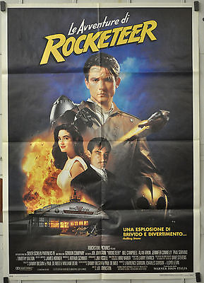 The Rocketeer 1991 Original Italian Poster 39X55 Jennifer Connelly Alan Arkin