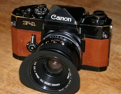 CANON F-1 + FD 35mm F/1:3.5 S.C 35mm FILM SLR CAMERA*** with lovely brown skin