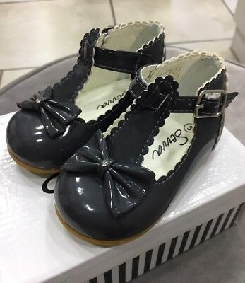 Baby Girls Sevva Shoes Dark Grey Brand New In Box £8 size infant 1 left