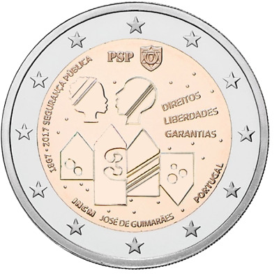 2 euro coin Portugal 2017 150 Years of Public Security