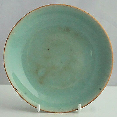 CHINESE Export Early C19th QING Celadon Chop Marked DISH