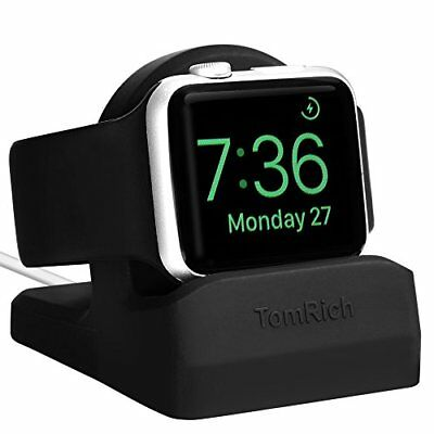 Black Charging Dock Stand Charger With Night Stand Mode For Apple Watch