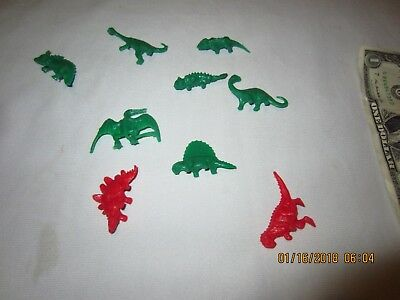 Sinclair Dinosaurs Dealer Plastic Premium - FULL set of 9 dinosaurs