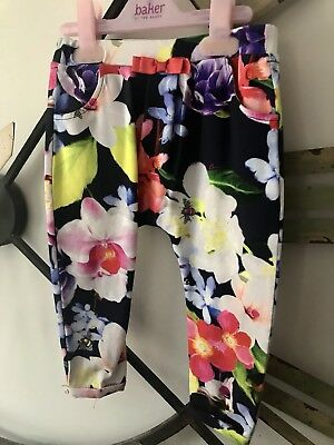 Beautiful Baby Girl Ted Baker Floral Trousers 12-18 Months, Never Worn