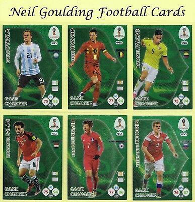 Panini WORLD CUP 2018 ☆☆☆ GAME CHANGER ☆☆☆ Football Insert Cards #445 to #462