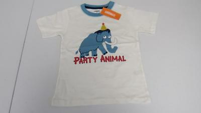 GYMBOREE Happy Birthday BOY White Shirt Top Elephant W Hat Size 2T 3T 4T 5T