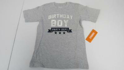GYMBOREE Happy Birthday BOY Gray Shirt Top Size 12 18 24 Mos 2T 3T