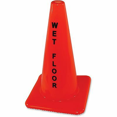 Impact Safety Cone Sign Wet Floor Orange 9100