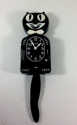 Vintage Kitty Cat Clock / Felix The Cat Motion Wall Clock Moving Eyes Works